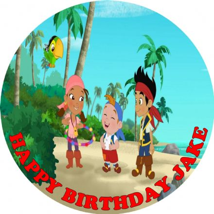 Jake & The Neverland Pirates Edible Cake Topper